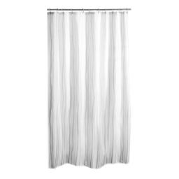 Rideau de douche effet 3d waves peva 180*h200cm transparent Blanc