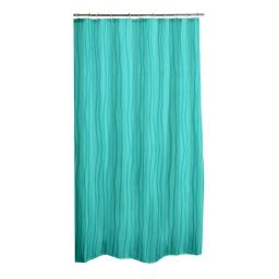 Rideau de douche effet 3d waves peva 180*h200cm transparent vert menthe Vert/menthe