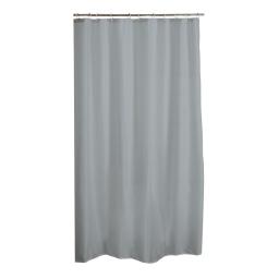 rideau de douche peva 180*h200cm vitamine gris clair
