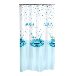 Rideau de douche polyester 180*h200cm aqua Non Attribue