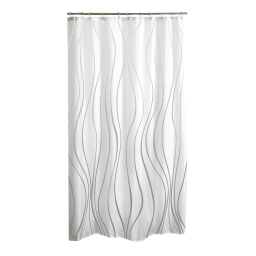 rideau de douche polyester 180*h200cm glitter home blanc