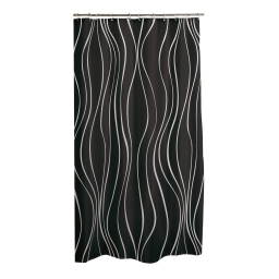 rideau de douche polyester 180*h200cm glitter home noir
