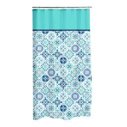 rideau de douche polyester 180*h200cm tiles