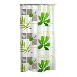 rideau de douche polyester 180*h200cm vegetal