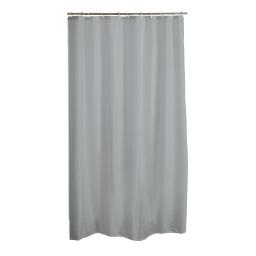 rideau de douche polyester 180*h200cm vitamine gris clair
