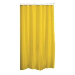 rideau de douche polyester 180*h200cm vitamine jaune