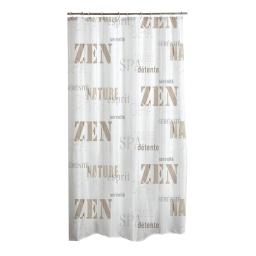 rideau de douche polyester 180*h200cm zen wood
