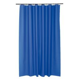 Rideau douche peva  180x200cm - douceur d'interieur - theme vitamine Bleu roi