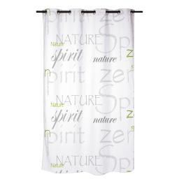 rideau douche textile 180x200cm douceur d'interieur theme nature zen