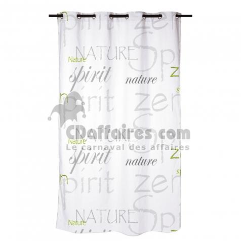 rideau douche textile 180x200cm douceur d\'interieur theme nature zen -  CDAffaires