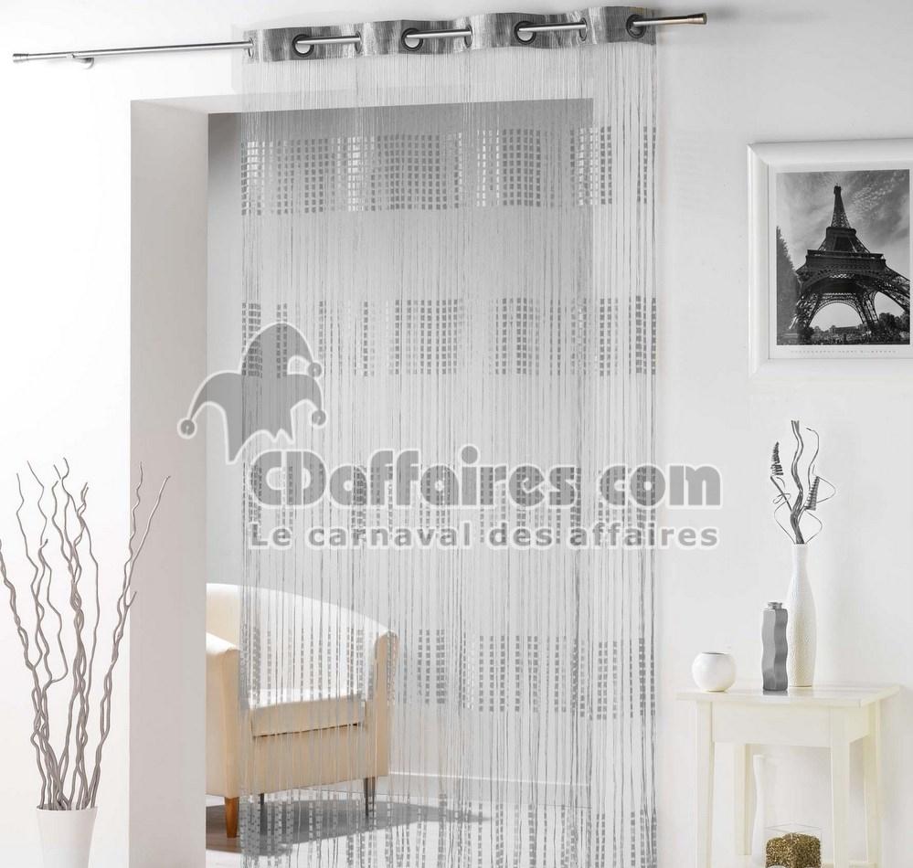 rideau fils spaghetti gris argent. Black Bedroom Furniture Sets. Home Design Ideas
