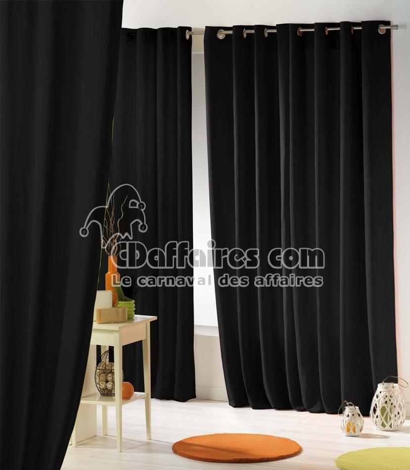 rideau oeillets gris et noir alpina 145 x 270 cm madura. Black Bedroom Furniture Sets. Home Design Ideas
