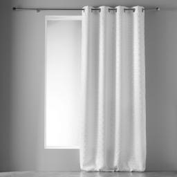 Rideau occultant  35 x 240 cm imprimé argent optic Blanc