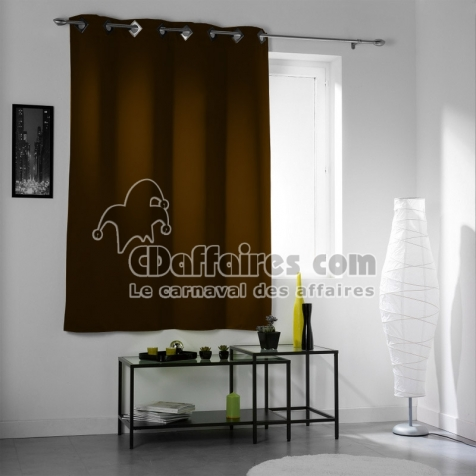 rideau occultant et isolant 140x180 cm cocoon junior brun cdaffaires. Black Bedroom Furniture Sets. Home Design Ideas