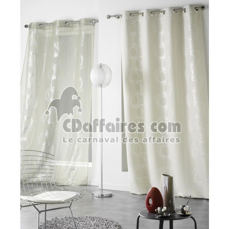 rideau occultant et isolant 140x240 cm intuition sable ebay. Black Bedroom Furniture Sets. Home Design Ideas