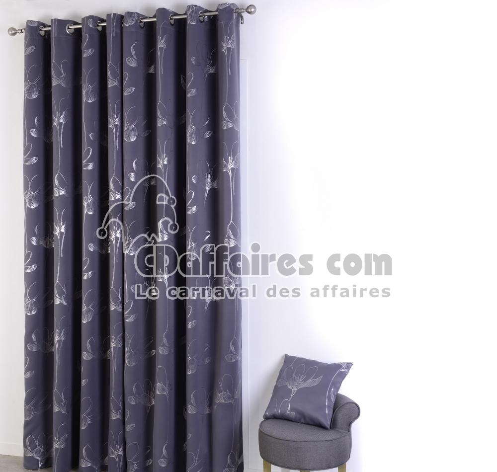 Description - Rideau gris argente ...