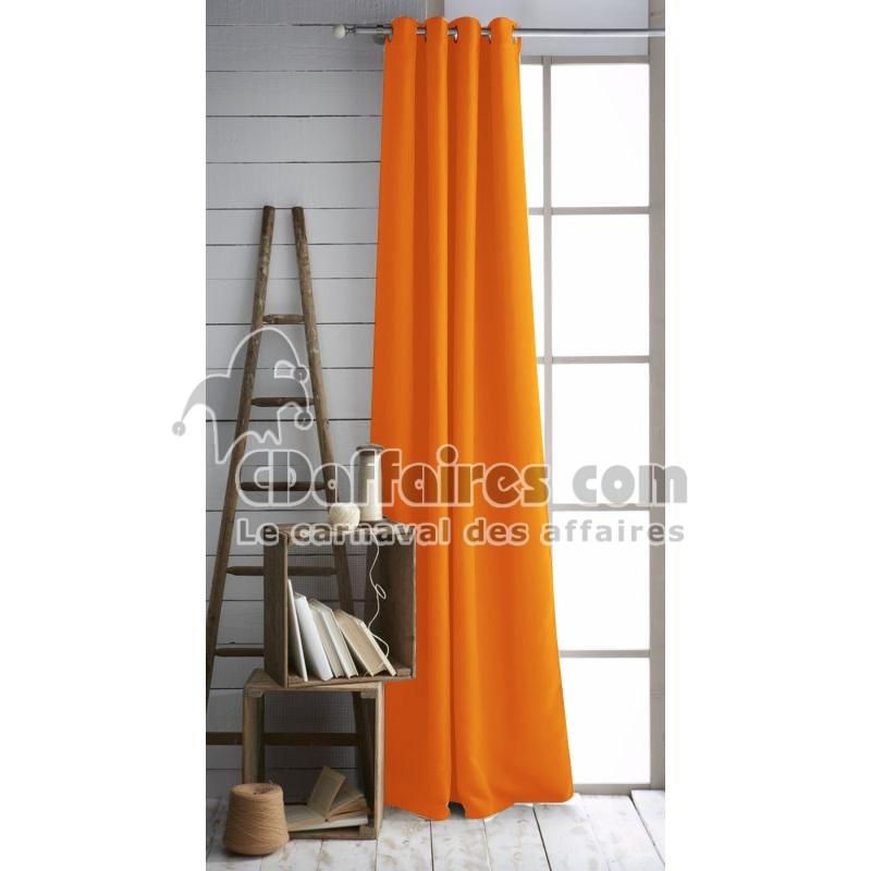 rideau occultant et isolant 140x260 cm nocturne mandarine ebay. Black Bedroom Furniture Sets. Home Design Ideas