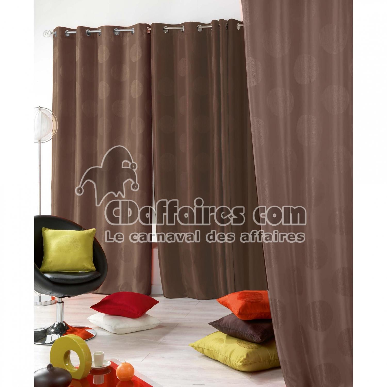 rideau occultant et isolant 140x260 cm oslo taupe ebay. Black Bedroom Furniture Sets. Home Design Ideas