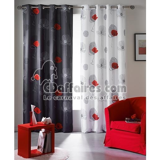 rideau occultant et isolant 140x260 cm poppy blanc ebay. Black Bedroom Furniture Sets. Home Design Ideas
