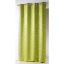 Rideau occultant et isolant 140x260 cm Silvermoon Vert anis