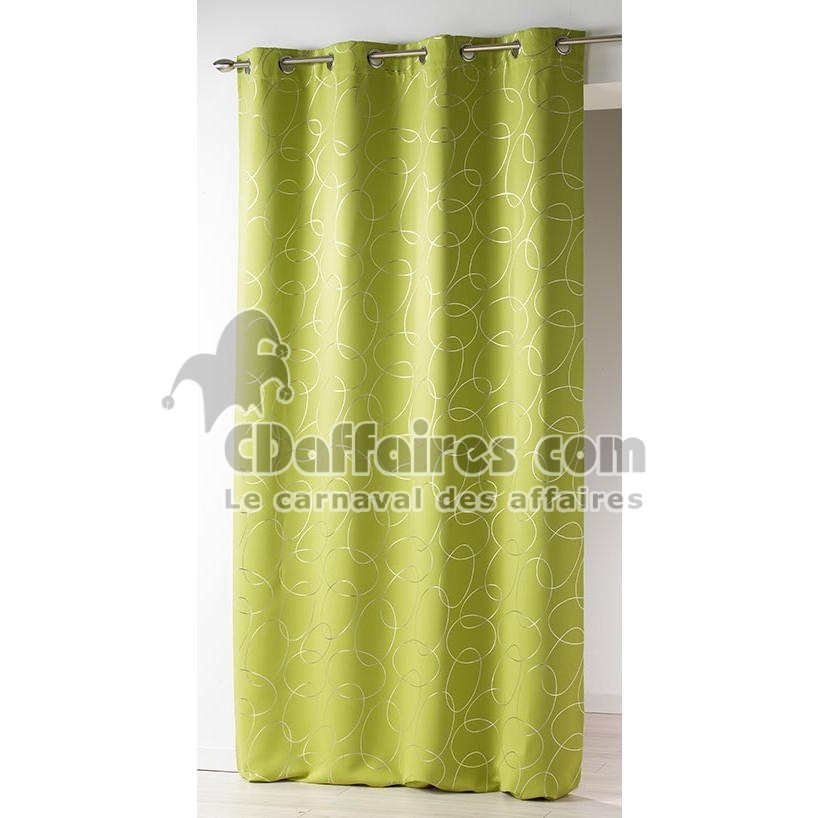 rideau occultant et isolant 140x260 cm silvermoon vert anis ebay. Black Bedroom Furniture Sets. Home Design Ideas