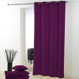 Rideau pas cher 140 x 260 cm polyester uni essentiel violet prune