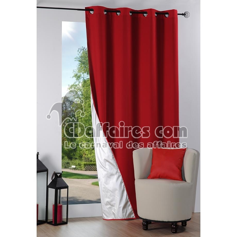 rideau thermique et isolant phonique 135x240 cm nelson rouge. Black Bedroom Furniture Sets. Home Design Ideas