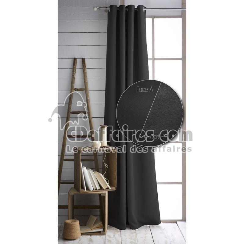 rideau thermique et isolant phonique 140x240 cm nuit calme noir ebay. Black Bedroom Furniture Sets. Home Design Ideas