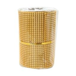 rouleau de table perle-couleur or-2m*8cm