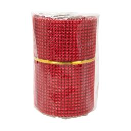 rouleau de table perle-couleur rouge-2m*8cm