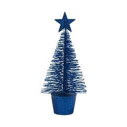 sapin-couleur bleu roi-h15cm