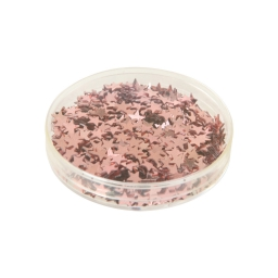 sequin etoiles 6mm-couleur or rose-7.2g