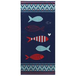 serviette de plage 70 x 150 cm eponge velours imprime feroe