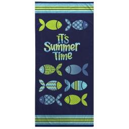 serviette de plage 70 x 150 cm eponge velours imprime funny fish