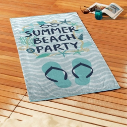 serviette de plage 70 x 150 cm eponge velours imprime summer beach party