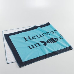 Serviette de plage 70 x 150 cm microfibre imprimee fish Aqua