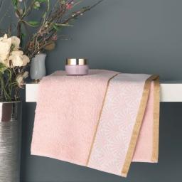 Serviette de toilette 50 x 90 cm eponge absorbante goldy Rose/or