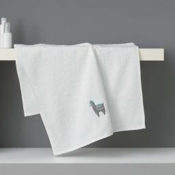 Serviette de toilette 50 x 90 cm eponge brodee lamalima Blanc