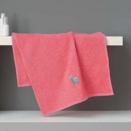Serviette de toilette 50 x 90 cm eponge brodee lamalima Rose