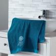 Serviette de toilette 50 x 90 cm eponge brodee talisman Bleu, image n° 1