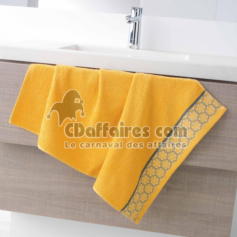 serviette de toilette 50 x 90 cm eponge unie colors miel