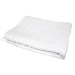 Serviette de toilette 50 x 90 cm eponge unie vitamine Blanc