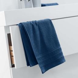 Serviette de toilette 50 x 90 cm eponge unie vitamine Bleu nuit