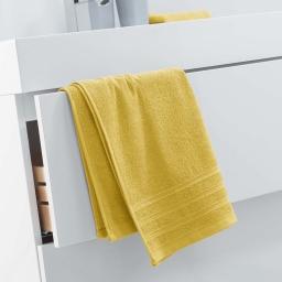 Serviette de toilette 50 x 90 cm eponge unie vitamine Miel