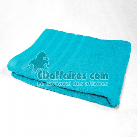 Serviette de toilette 50 x 90 cm eponge unie vitamine Turquoise