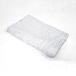 Serviette invite 30 x 50 cm eponge unie vitamine Blanc
