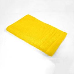 Serviette invite 30 x 50 cm eponge unie vitamine Jaune