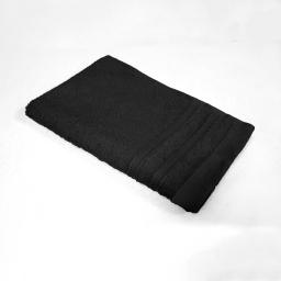 Serviette invite 30 x 50 cm eponge unie vitamine Noir
