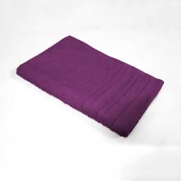 Serviette invite 30 x 50 cm eponge unie vitamine Prune