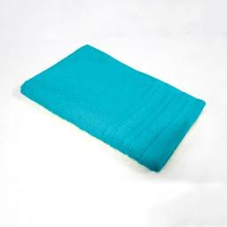 Serviette invite 30 x 50 cm eponge unie vitamine Turquoise